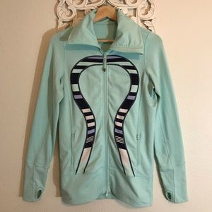 LULULEMON DEFINE JACKET MINT GREEN WITH BLUE SZ 6